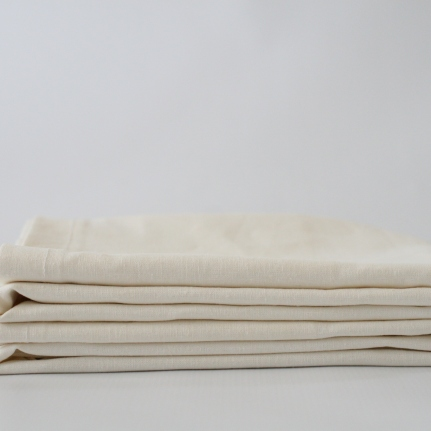 Organic Cotton Hemp Natural White Pillow Case set