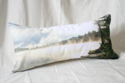 'Misty Morning' Landscape cushion