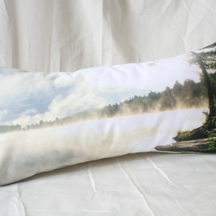'Misty Morning' Landscape cushion
