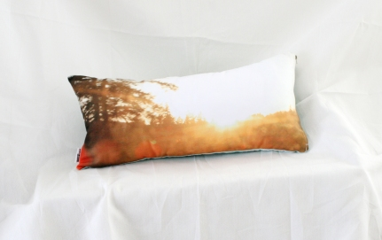 'Driving home at Sunset' Landscape cushion